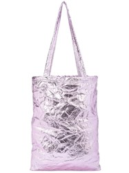 Sies Marjan Metallic Shopper Tote Pink