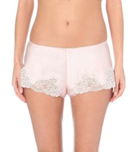 Nk Imode Morgan Retro Silk Satin Shorts Lotus Pink M Light Grey