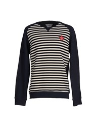 Macchia J Topwear Sweatshirts Men Dark Blue