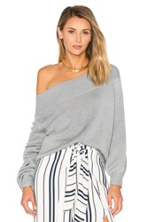 Lovers Friends Fun Seeker Sweater Light Gray