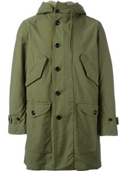 Saint Laurent 'M51' Parka Coat Green