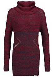 Khujo Nanga Jumper Dress Winered Mouline Bordeaux