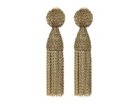 Oscar De La Renta Class Short Chain Tassel Earrings Gold Earring