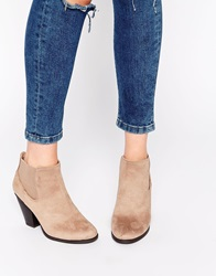 Call It Spring Hudia Western Taupe Heeled Boots