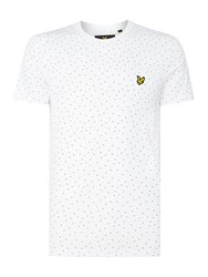 Lyle And Scott Men's Minimal Dot Crew Neck Short Sleeve T Shirt White