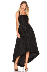 Cynthia Rowley Jacquard High Low Gown Black
