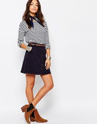 Esprit Button Up Mini Skirt Navy
