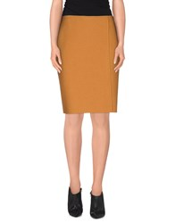 Jo No Fui Skirts Knee Length Skirts Women Ocher