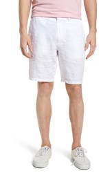 Vilebrequin Embroidered Linen Blend Shorts Blanc