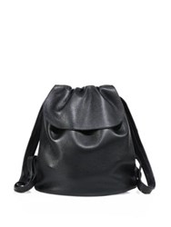 The Row Deerskin Knapsack Bag Black