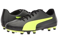 Puma Spirit Fg Black Fizzy Yellow Castor Gray Men's Soccer Shoes