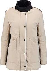 Maje Quilted Cotton Blend Shell Coat Beige