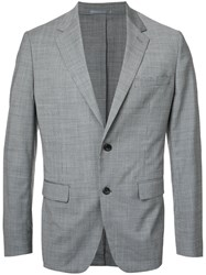 Estnation Houndstooth Blazer Men Polyester Polyurethane Cupro Wool 50 Grey