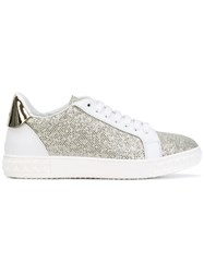Casadei Glitter Sneakers Women Calf Leather Polyester Kid Leather Rubber 39 White