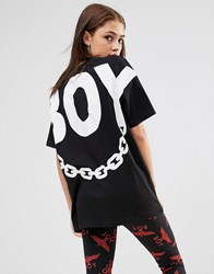 Boy London Chain Print T Shirt Black