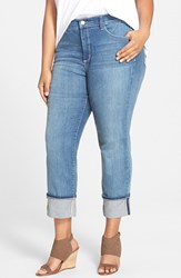 Plus Size Women's Nydj 'Loreena' Stretch Roll Cuff Crop Boyfriend Jeans Heyburn