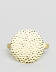 Asos Bracelet With Disc In Gold Gold