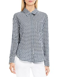 Vince Camuto Two By Gingham Button Down Shirt Shibori Navy