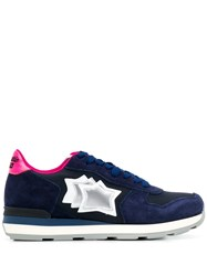 Atlantic Stars Side Logo Sneakers Blue