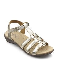 Hotter Sol Extra Wide Sandals Gold Silverlic