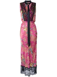 Romance Was Born Ultra Violet 'Tenderly Brocade' Dress Pink Purple