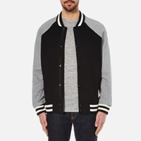 Rag And Bone Men's Arden Varsity Jacket Black Grey