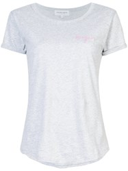 Maison Labiche Bonjour T Shirt Cotton Grey