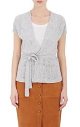Barneys New York Women's Cashmere Cap Sleeve Cardigan Grey
