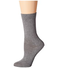 Falke Family Crew Grey Women's Quarter Length Socks Shoes Gray