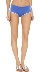 Clover Canyon Solids Lace Up Bikini Bottoms Perwinkle