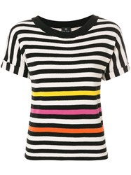 Paul Smith Ps By Striped T Shirt Cotton Black