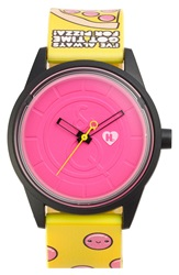 Harajuku Lovers Resin Solar Watch 40Mm Limited Edition Pizza Time