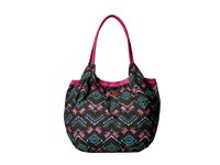 Roxy Total Heat Wave Tote Traveling Gypsy Combo Jade Tote Handbags Black