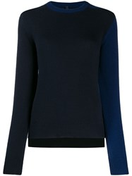 Sara Lanzi Contrast Fitted Jumper Black