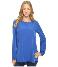 Nydj Woven Tunic Azul Women's Blouse Blue
