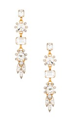 Elizabeth Cole Lilian Earrings In Metallic Gold. Crystal