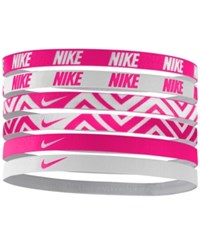 Nike 6 Pk. Active Mini Printed Headband Set Vivid Pink