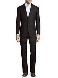 Michael Kors Notch Lapel Wool Suit Navy