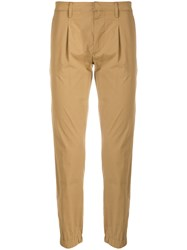 Paolo Pecora Casual Cropped Chinos Brown