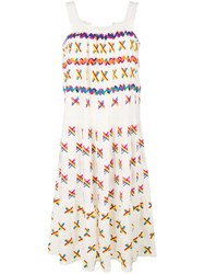 All Things Mochi Embroidered Details Sundress White