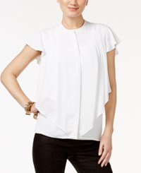 Alfani Layered Ruffle Blouse Only At Macy's Bright White