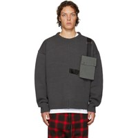 D By D Grey Outpocket Sweater
