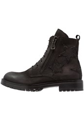 Bronx Laceup Boots Black