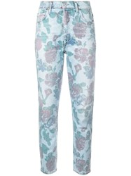 Citizens Of Humanity Bouquet Print Tapered Jeans Blue