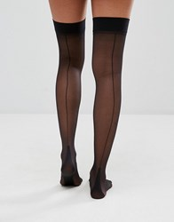 Jonathan Aston Backseam And Heel Stockings Black