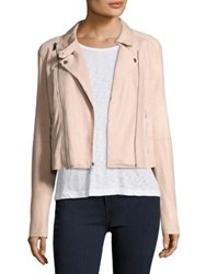 Paige Silvie Leather And Suede Moto Jacket Flora
