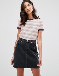 Pepe Jeans Donna Striped Tee Red