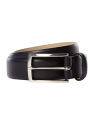 Howick Plain Bevelled Edge Nubuck Belt Black