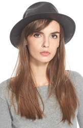 Rag And Bone Woven Straw Fedora Black