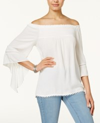 American Rag Off The Shoulder Peasant Top Only At Macy's Egret